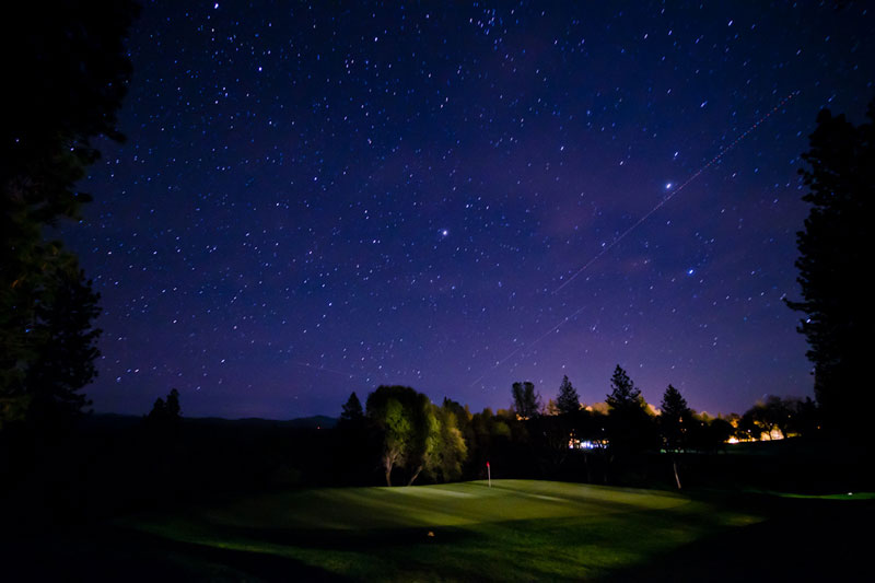 how to find golf balls at night